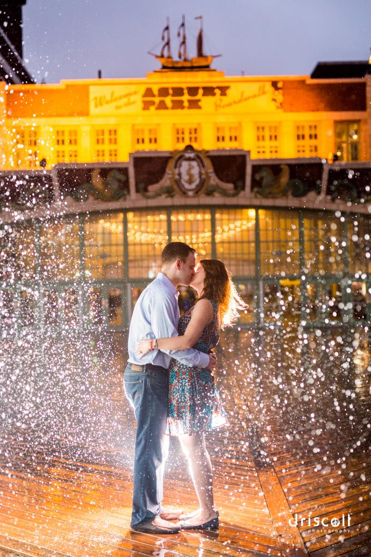 convention hall the paramount asbury park engagement photos nj photographer